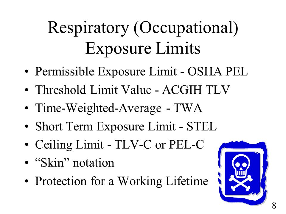 Respiratory (Occupational) Exposure Limits