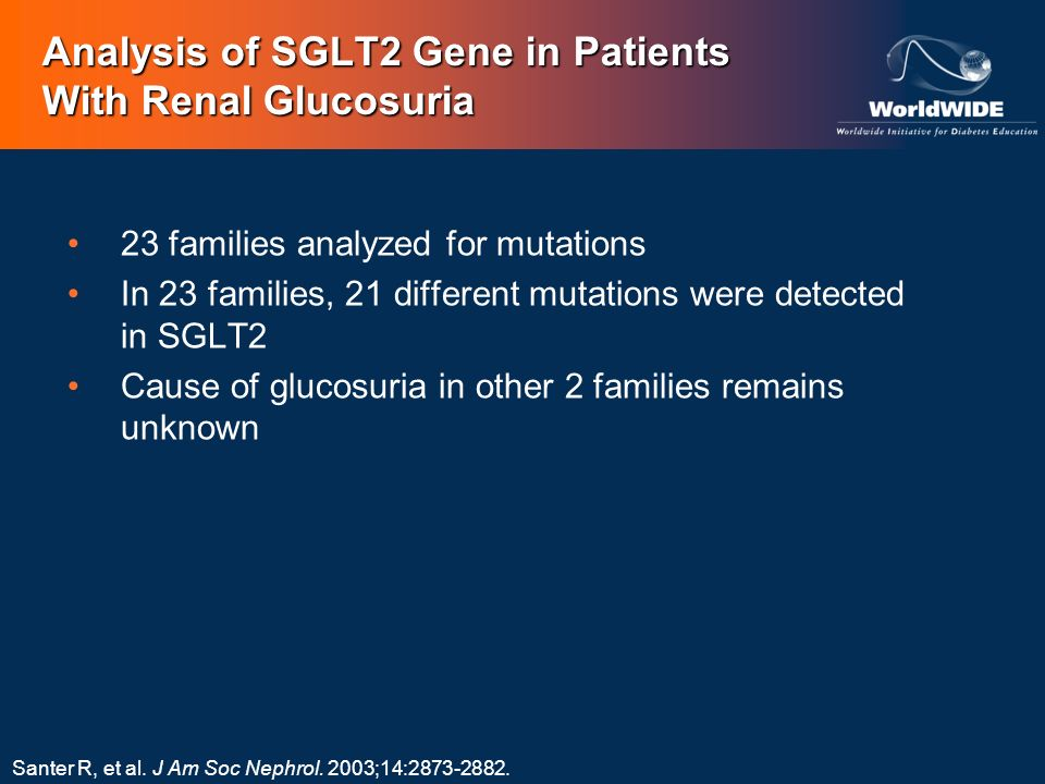 Analysis of SGLT2 Gene in Patients With Renal Glucosuria