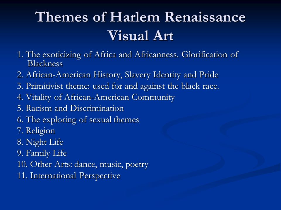 Themes of Harlem Renaissance Visual Art
