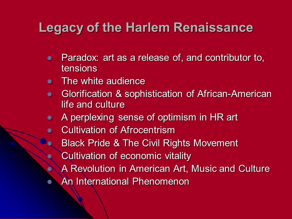 Legacy of the Harlem Renaissance