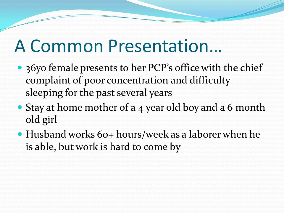 A Common Presentation…
