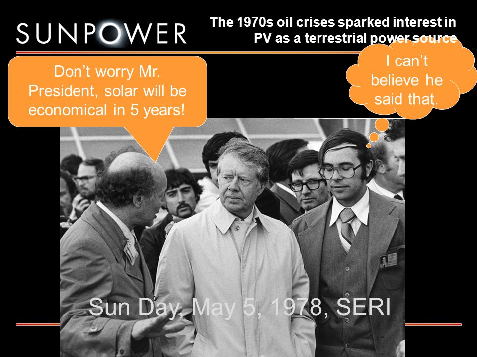 Sun Day, May 5, 1978, SERI I can't believe he said that.