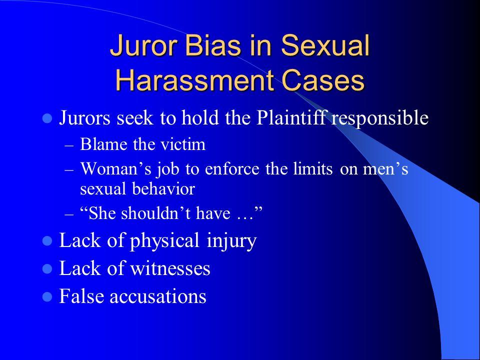 Juror Bias in Sexual Harassment Cases