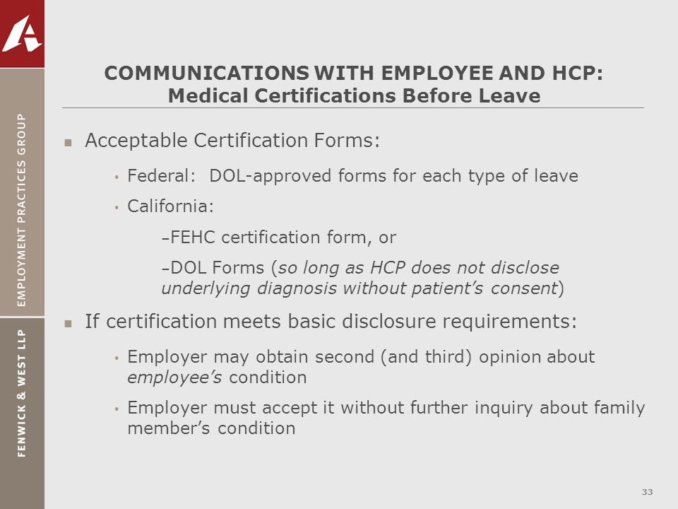 Acceptable Certification Forms: