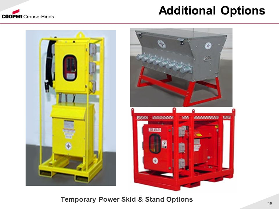 Temporary Power Skid & Stand Options