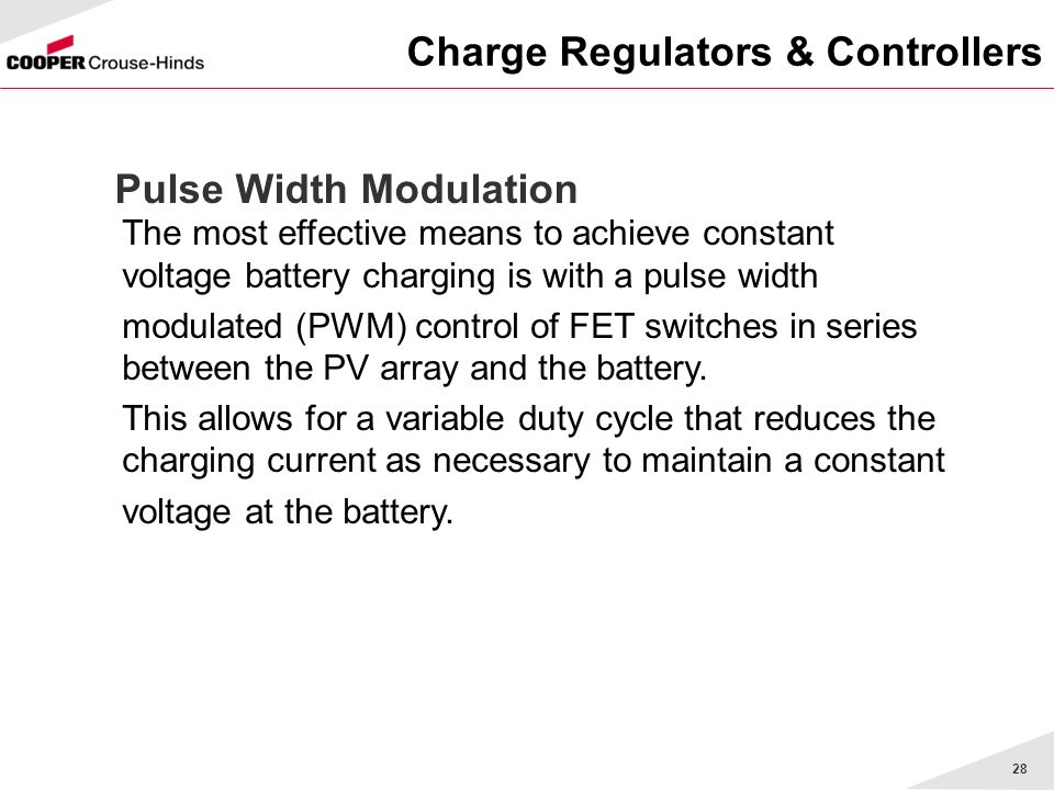 Charge Regulators & Controllers