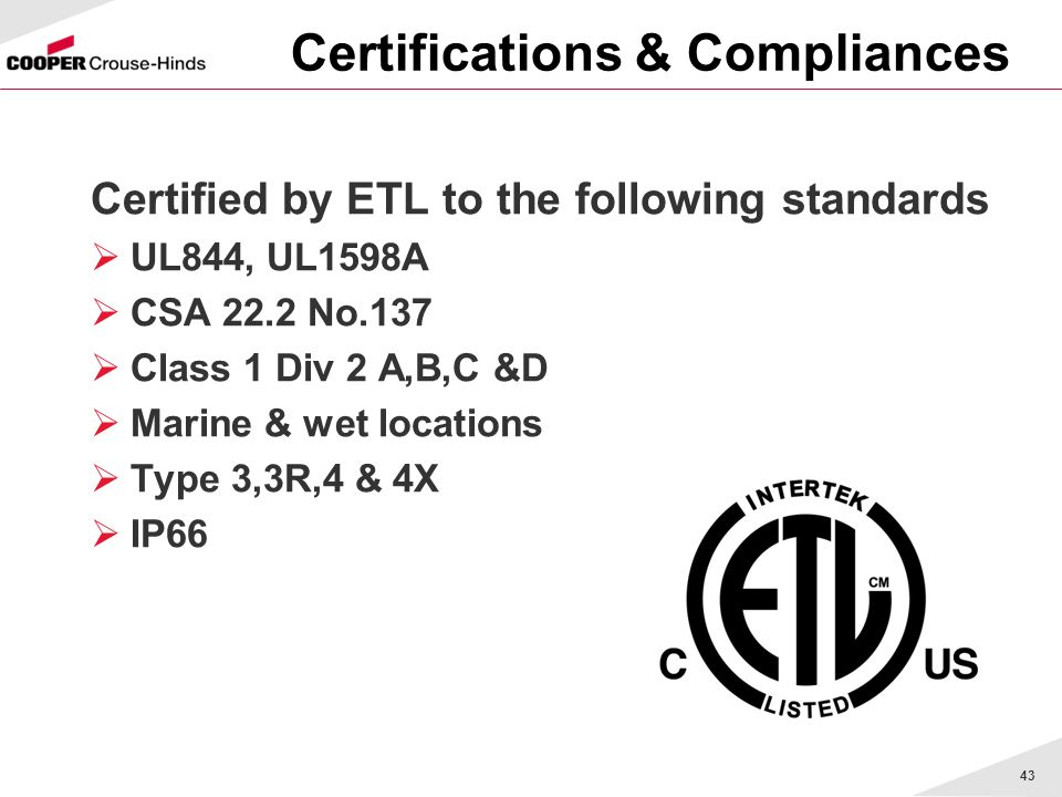 Certifications & Compliances