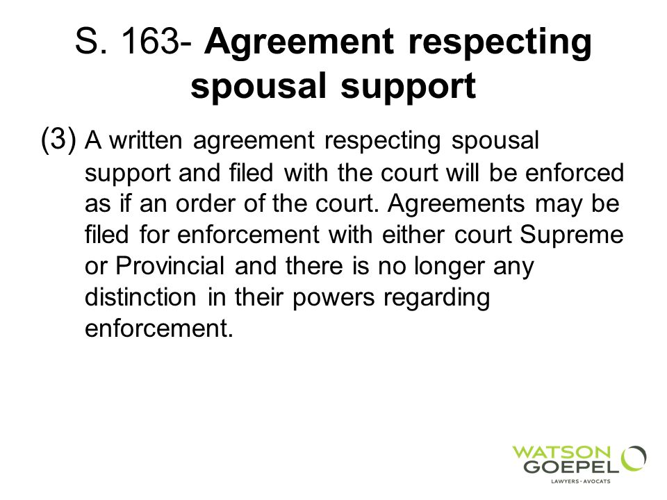 Family Law Act Child Support And Spousal Support Ppt Download