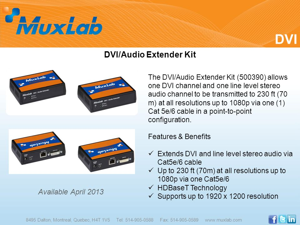 DVI/Audio Extender Kit