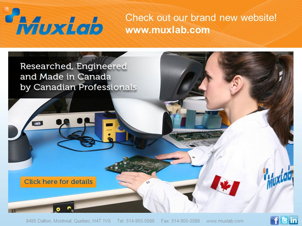 Check out our brand new website! www.muxlab.com