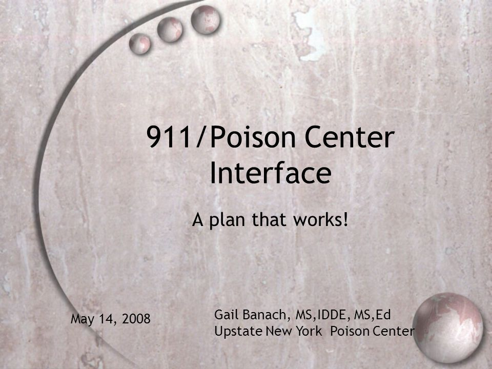 911/Poison Center Interface
