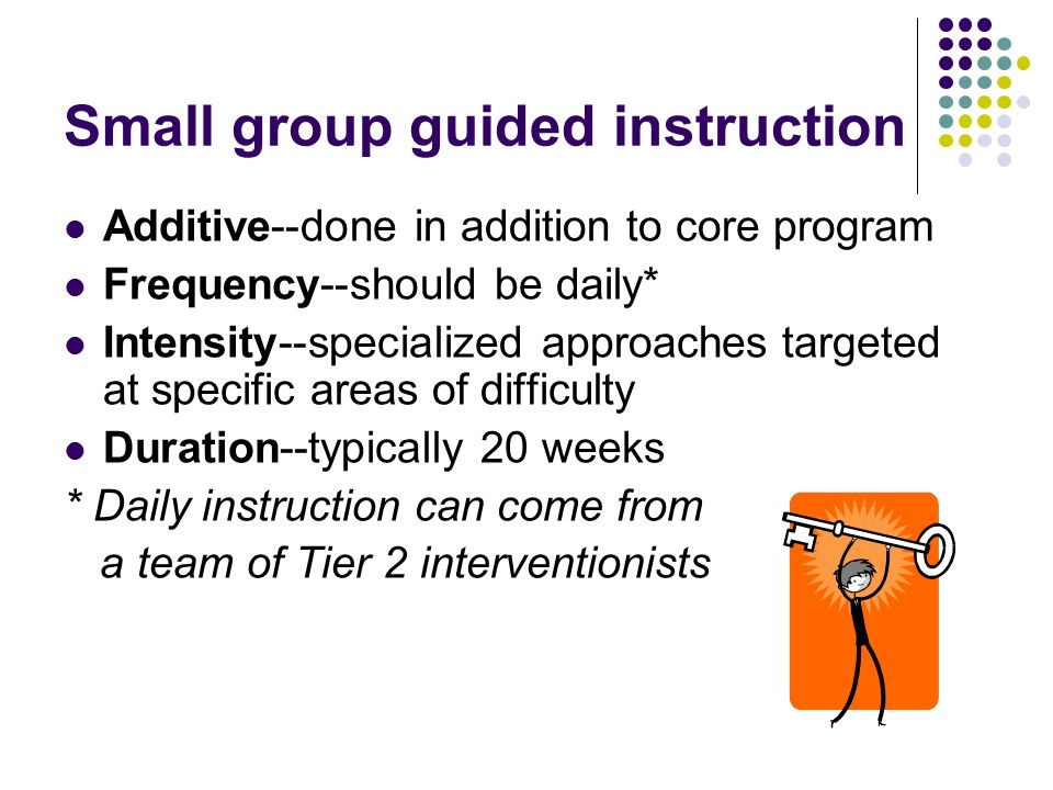 Small group guided instruction