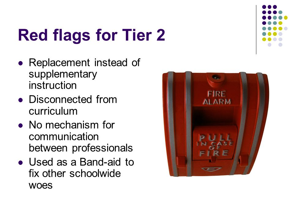 Red flags for Tier 2 Replacement instead of supplementary instruction