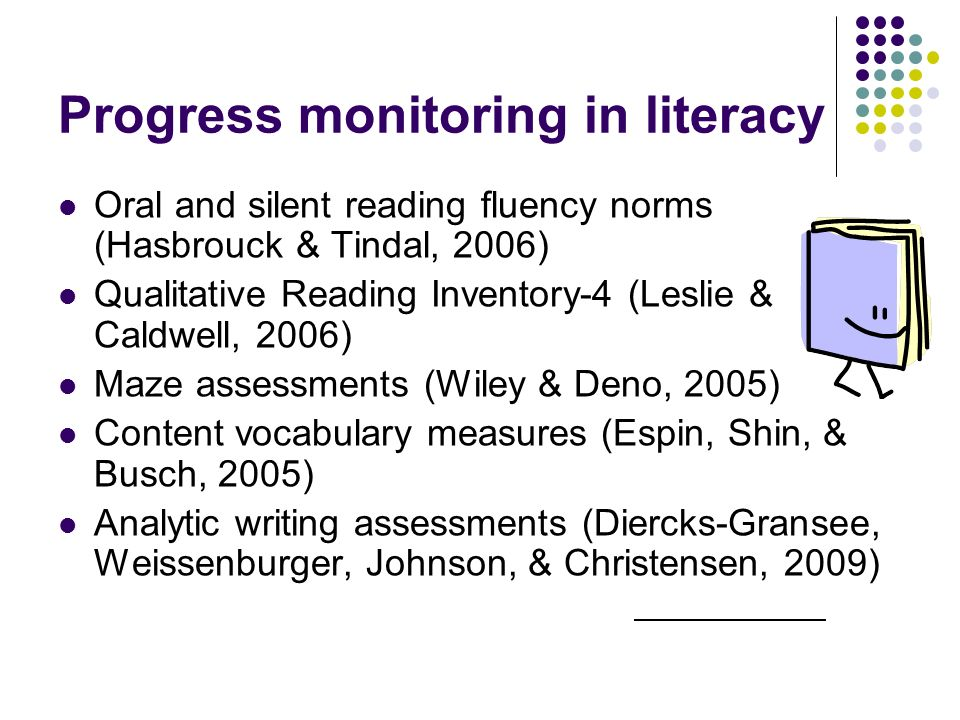 Progress monitoring in literacy