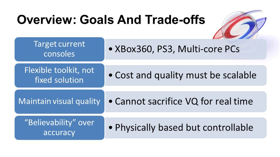 Overview: Goals And Trade-offs