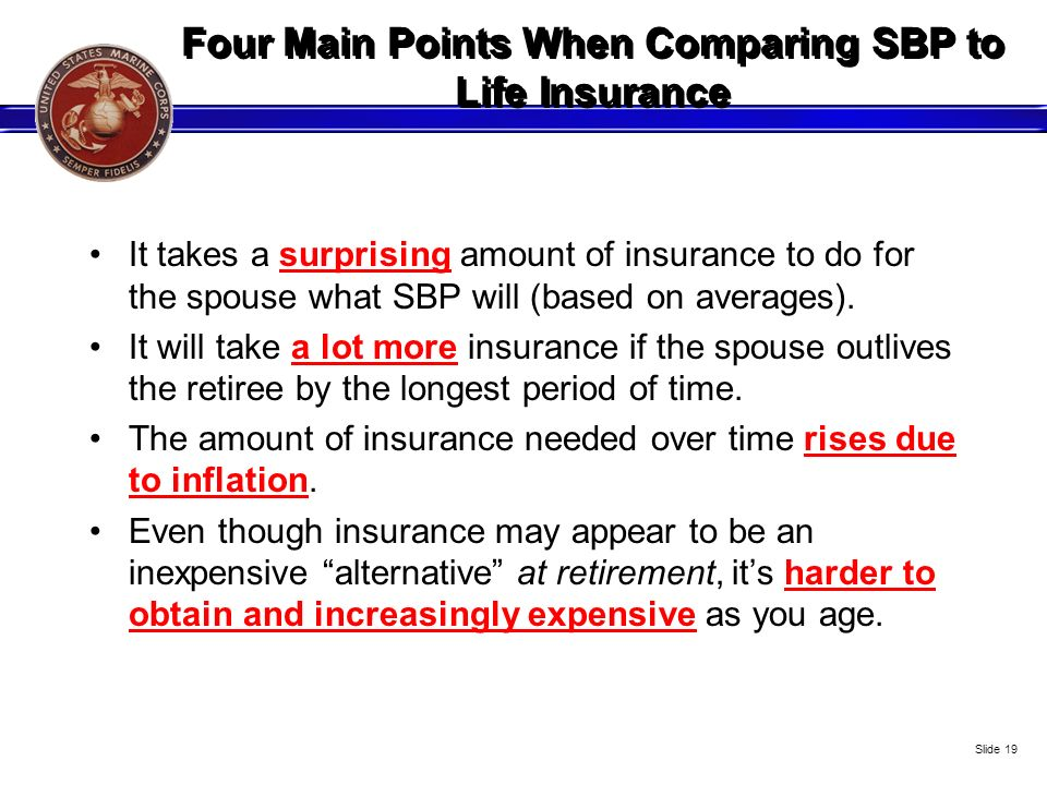 Four Main Points When Comparing SBP to Life Insurance
