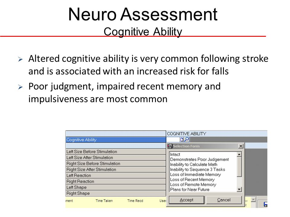 Neuro Assessment Cognitive Ability