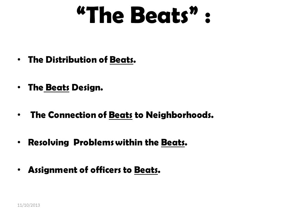 The Beats : The Distribution of Beats. The Beats Design.