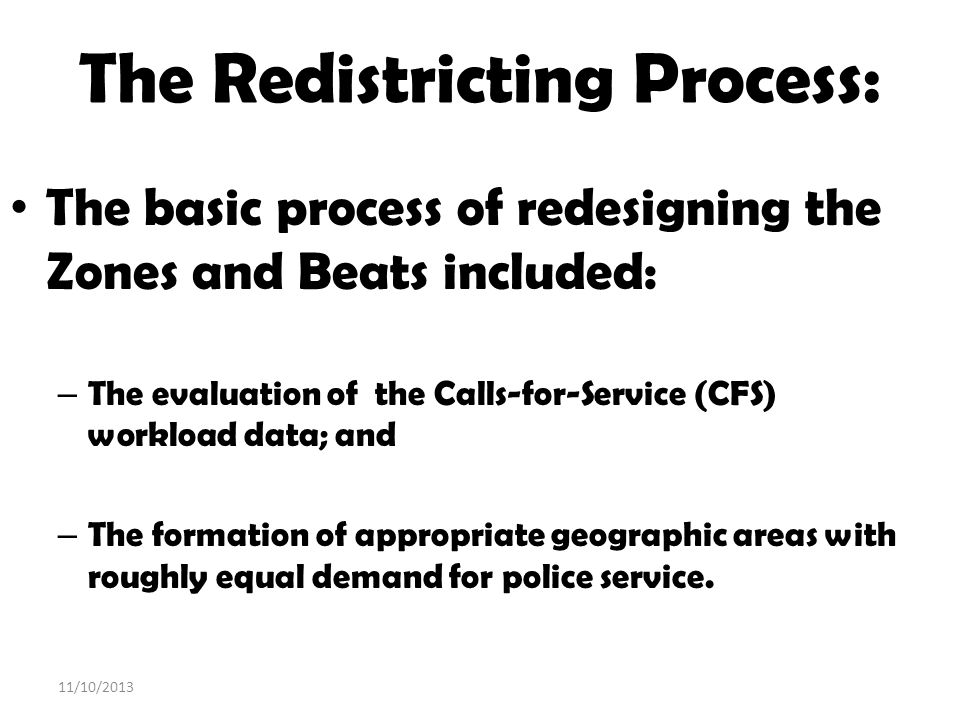 The Redistricting Process: