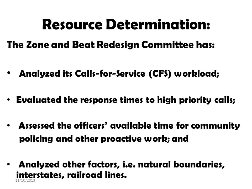Resource Determination: