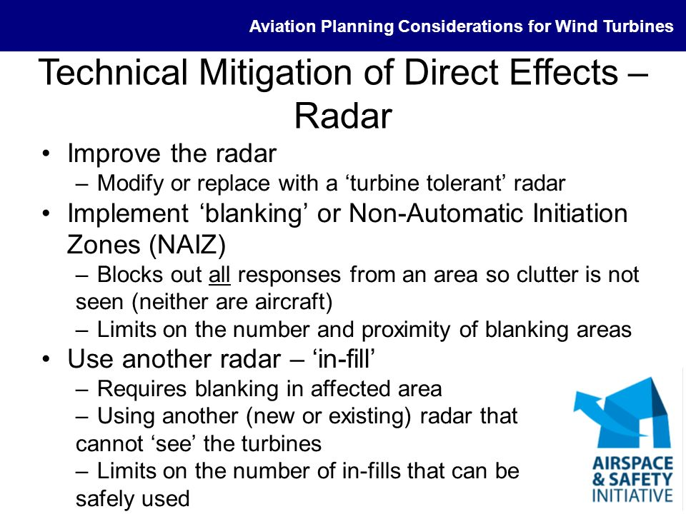 Technical Mitigation of Direct Effects – Radar
