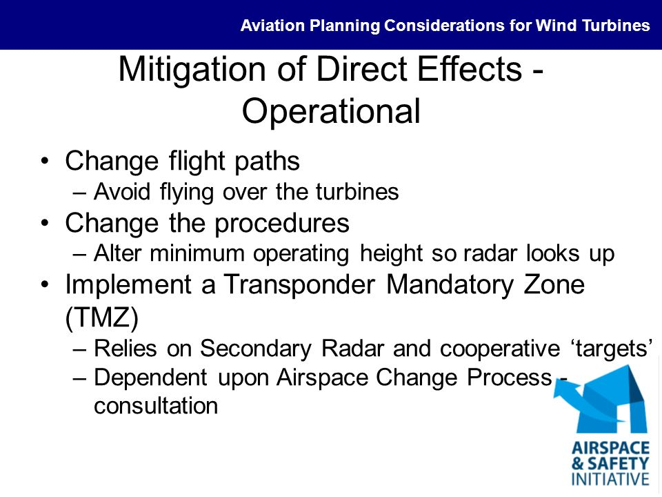 Mitigation of Direct Effects - Operational