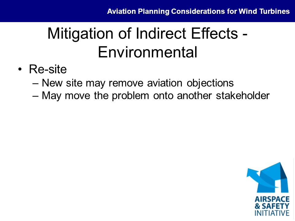Mitigation of Indirect Effects - Environmental