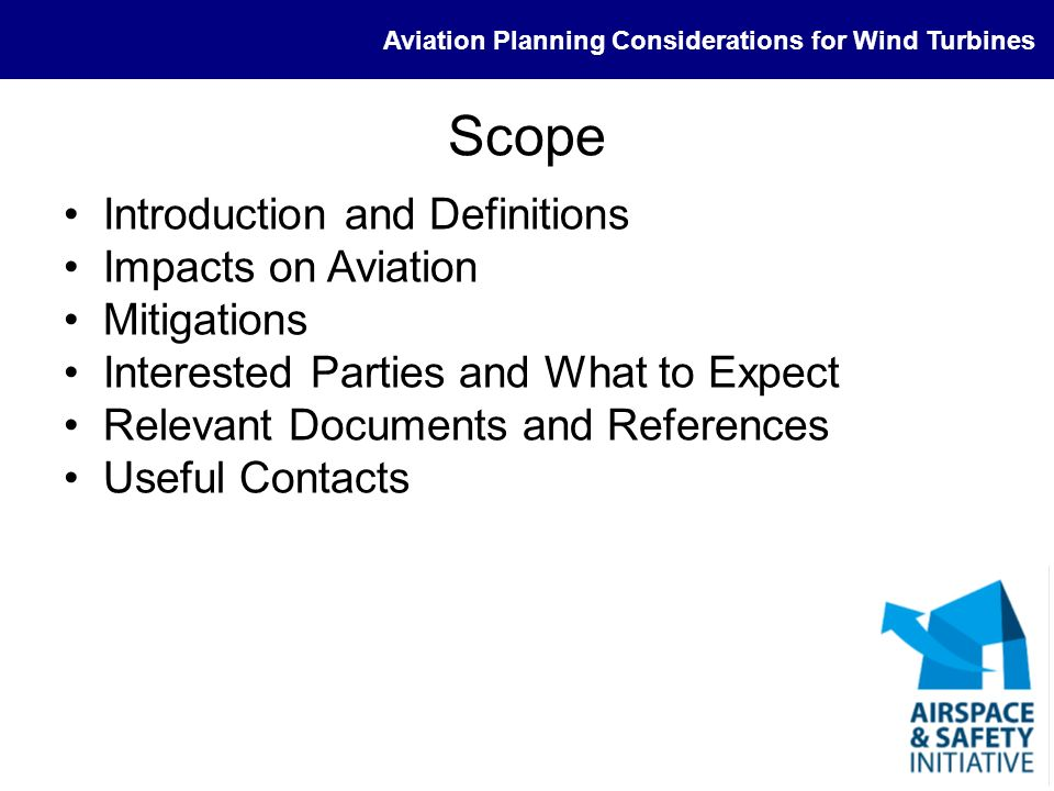 Scope Introduction and Definitions Impacts on Aviation Mitigations