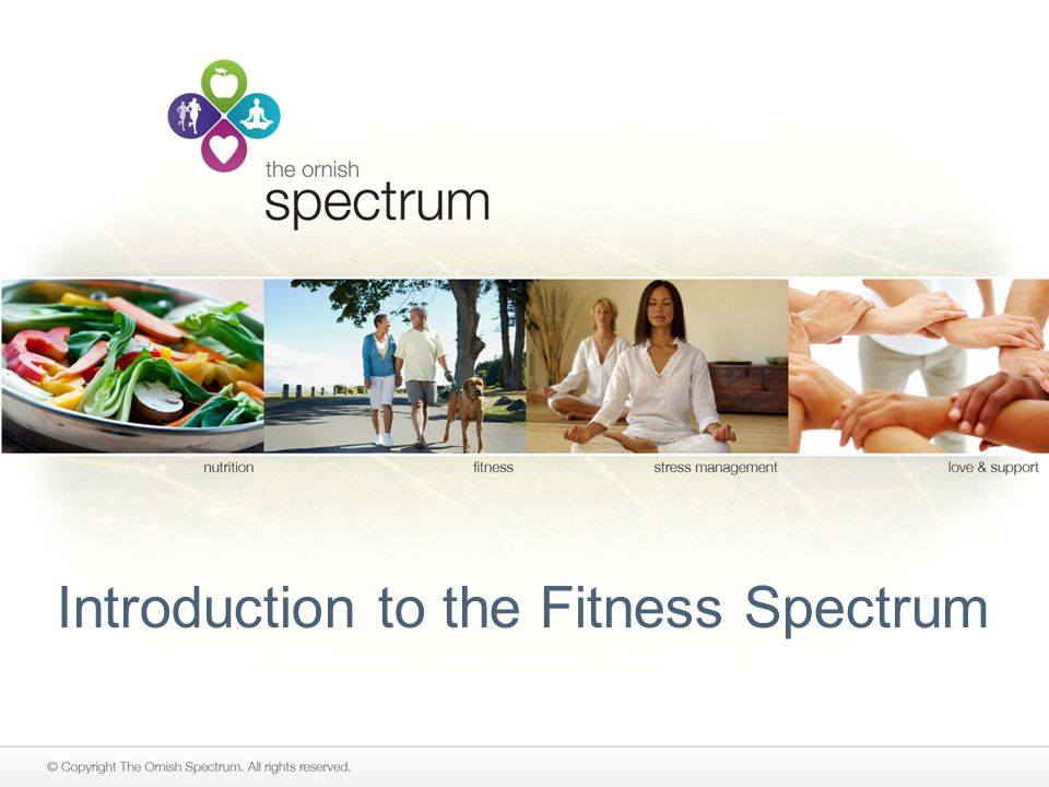 Introduction to the Fitness Spectrum