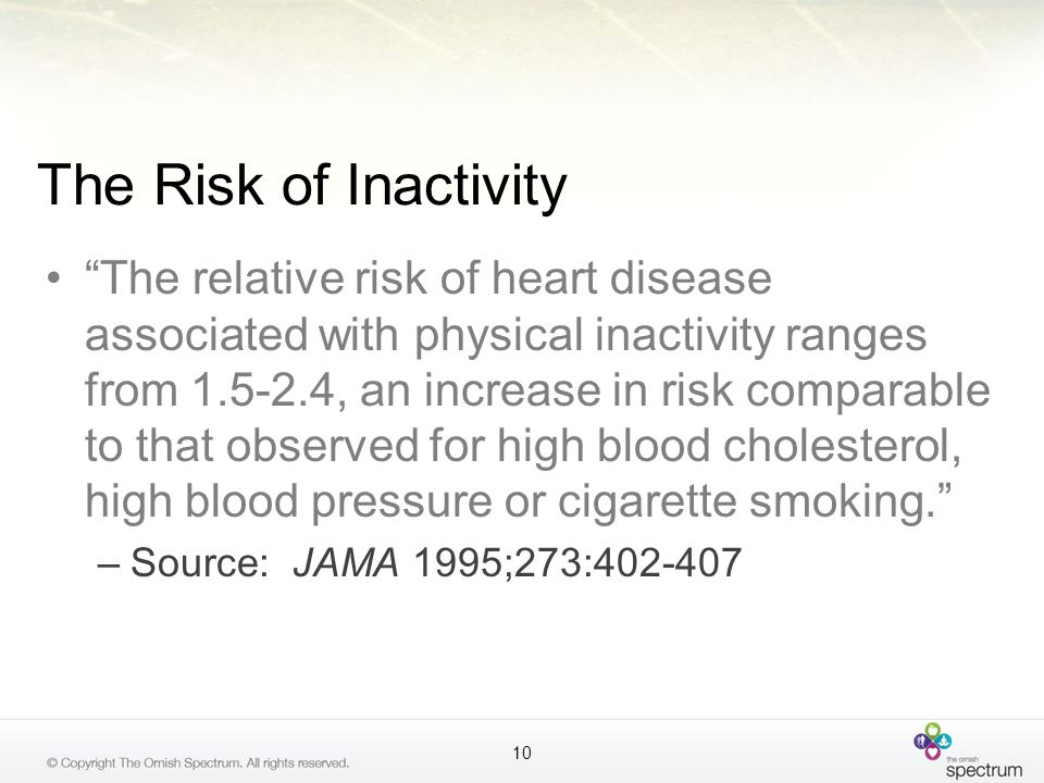 The Risk of Inactivity