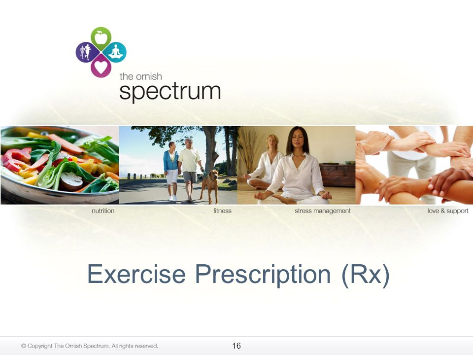 Exercise Prescription (Rx)