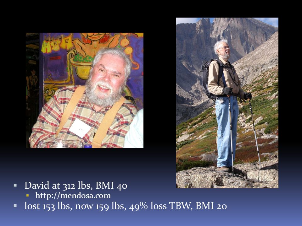 lost 153 lbs, now 159 lbs, 49% loss TBW, BMI 20