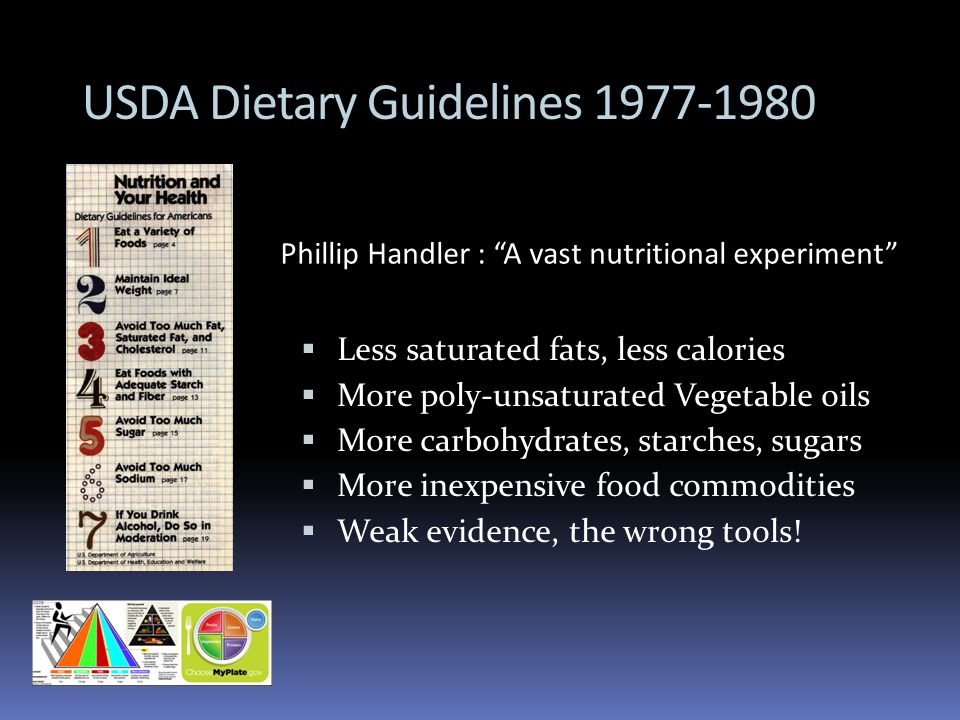 USDA Dietary Guidelines 1977-1980