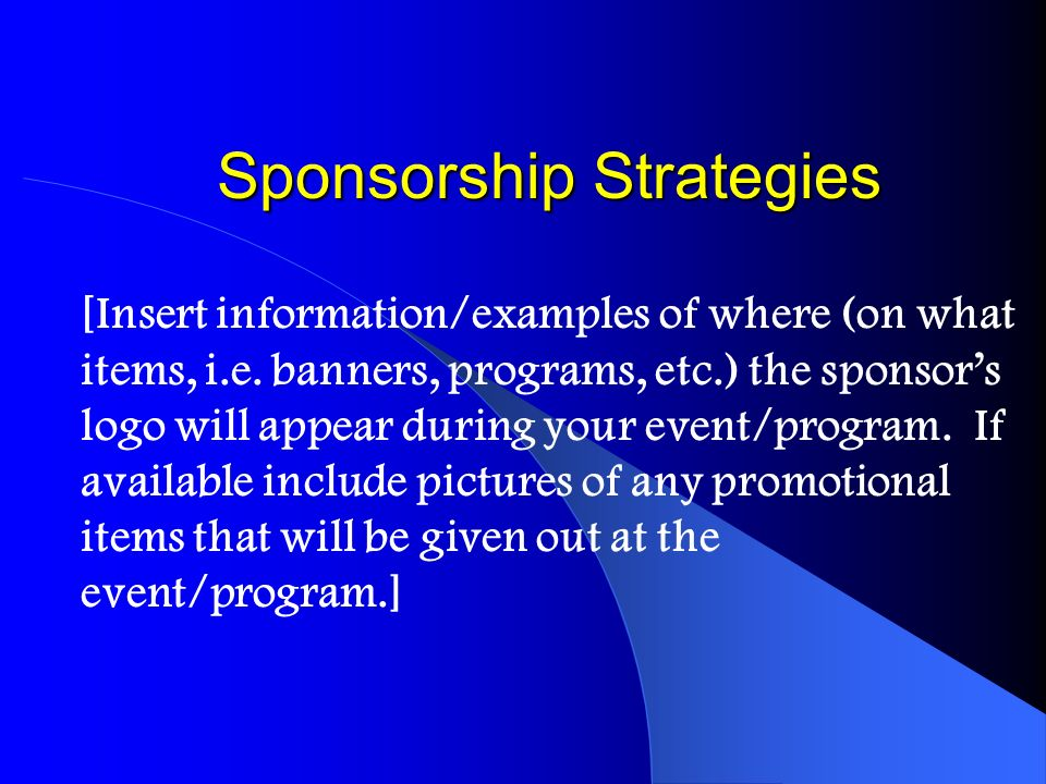Sponsorship Strategies