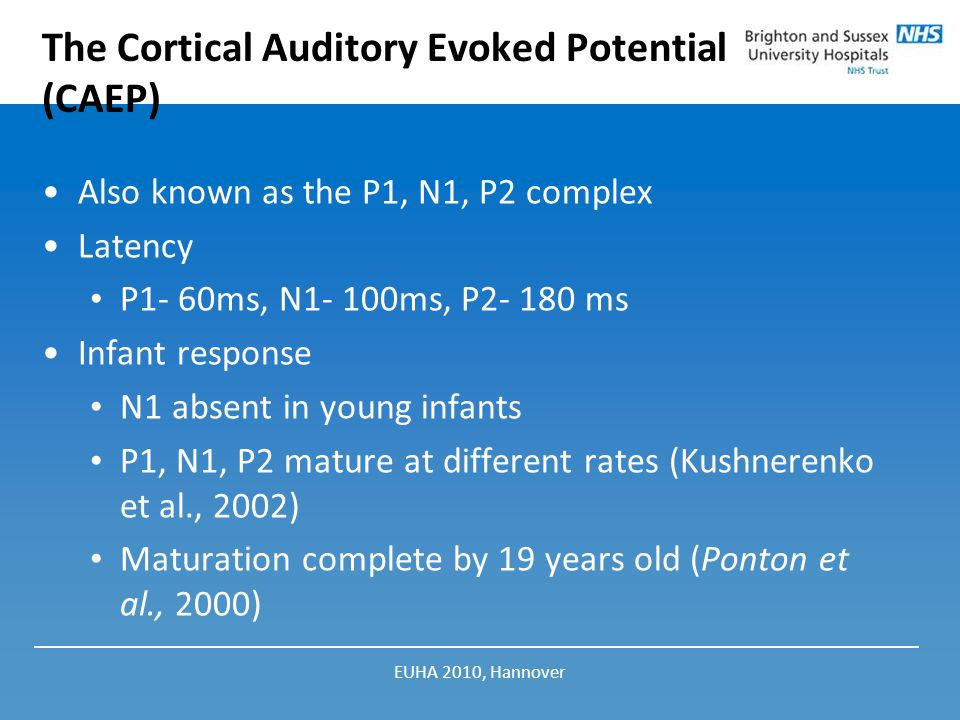 The Cortical Auditory Evoked Potential (CAEP)