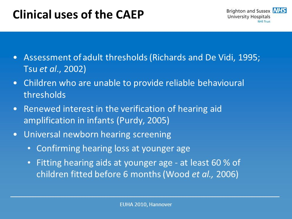 Clinical uses of the CAEP