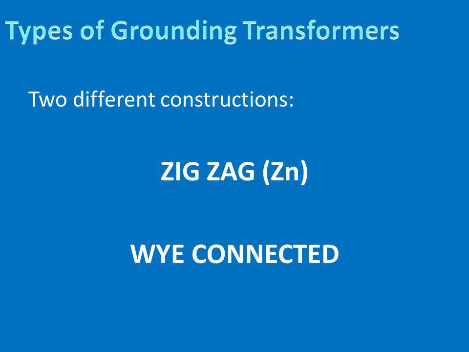 Types of Grounding Transformers