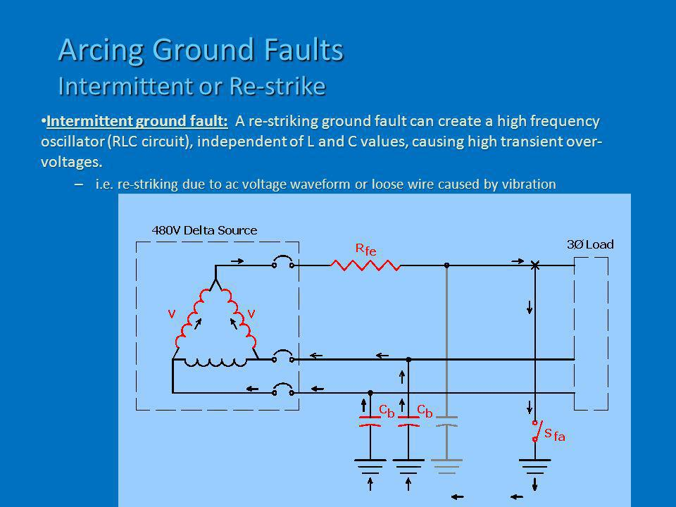 Arcing Ground Faults Intermittent or Re-strike