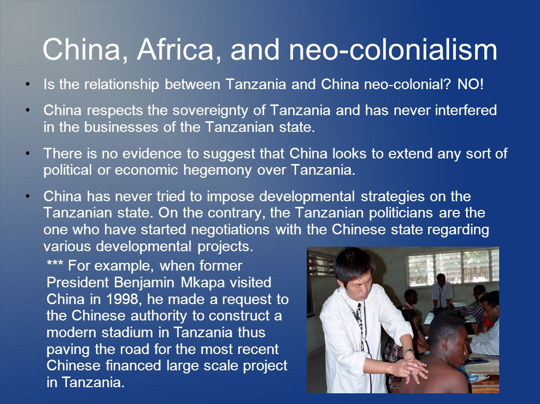 China, Africa, and neo-colonialism