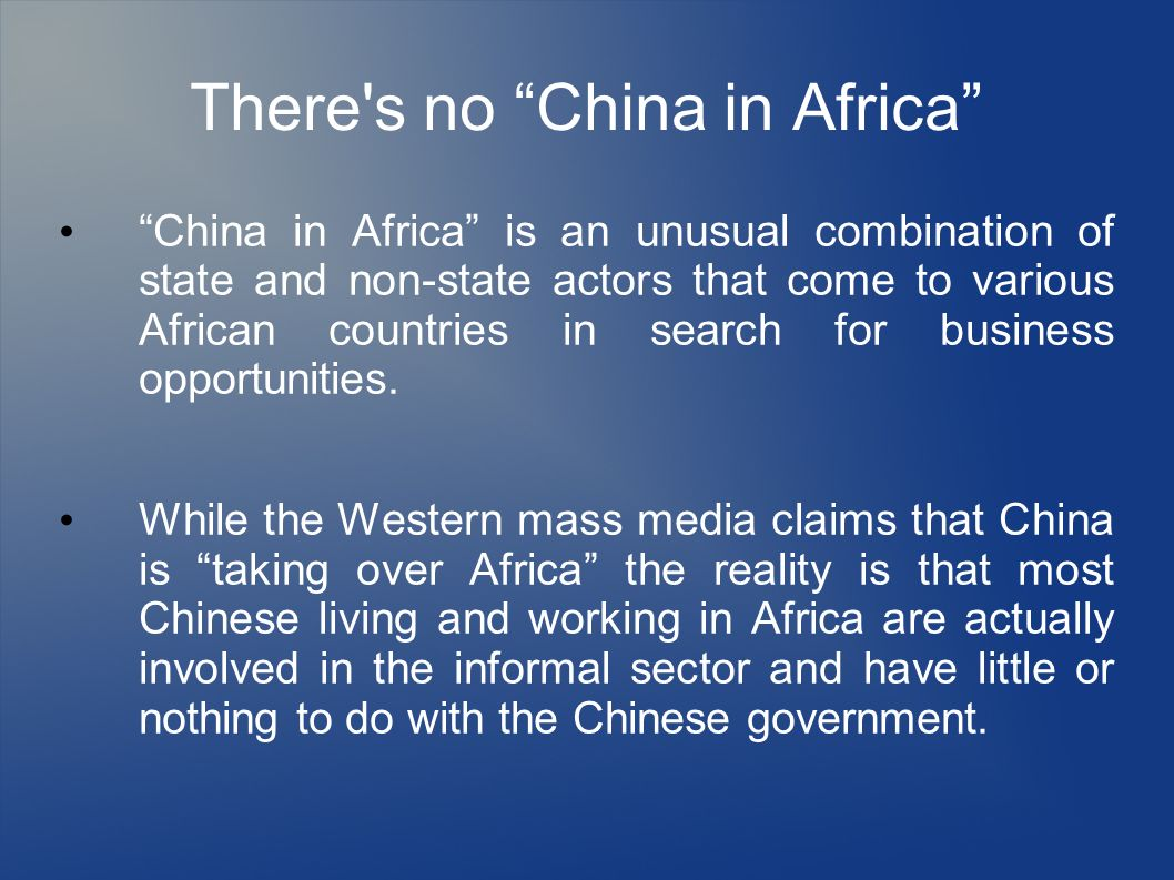 There s no China in Africa