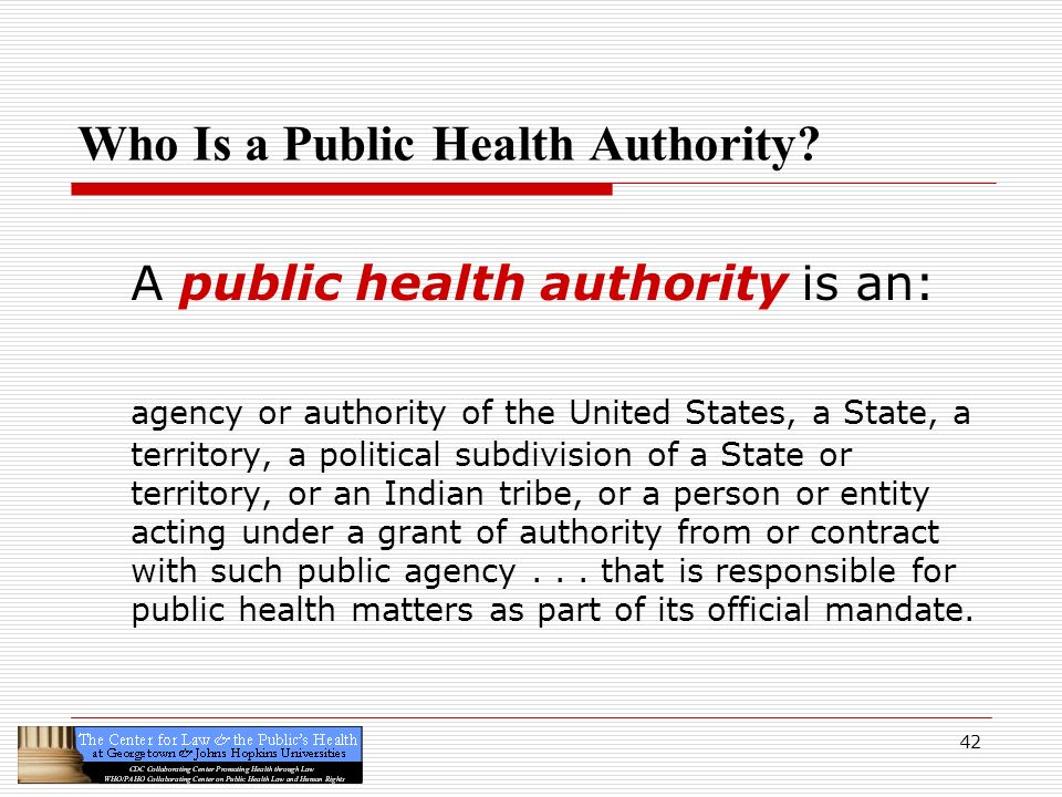 Who Is a Public Health Authority