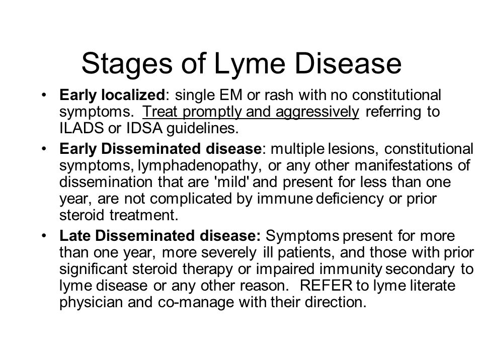 Stages of Lyme Disease