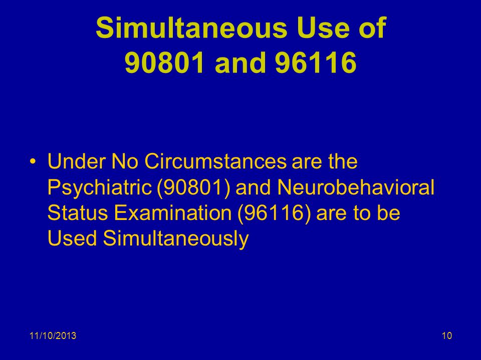 Simultaneous Use of and 96116
