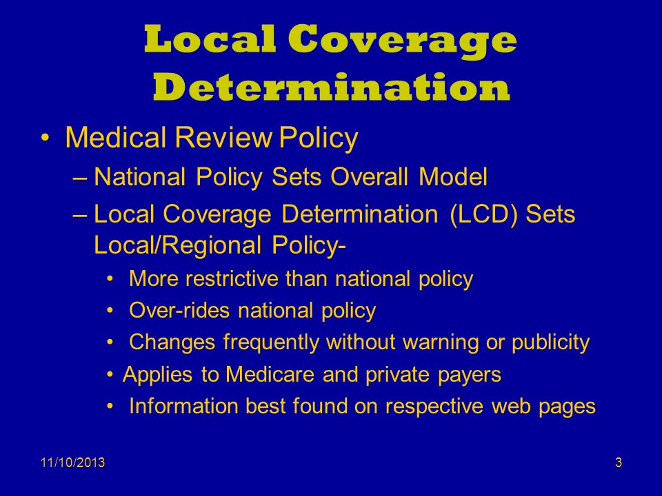 Local Coverage Determination