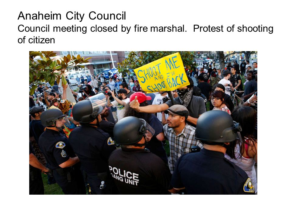 Anaheim City Council Council meeting closed by fire marshal