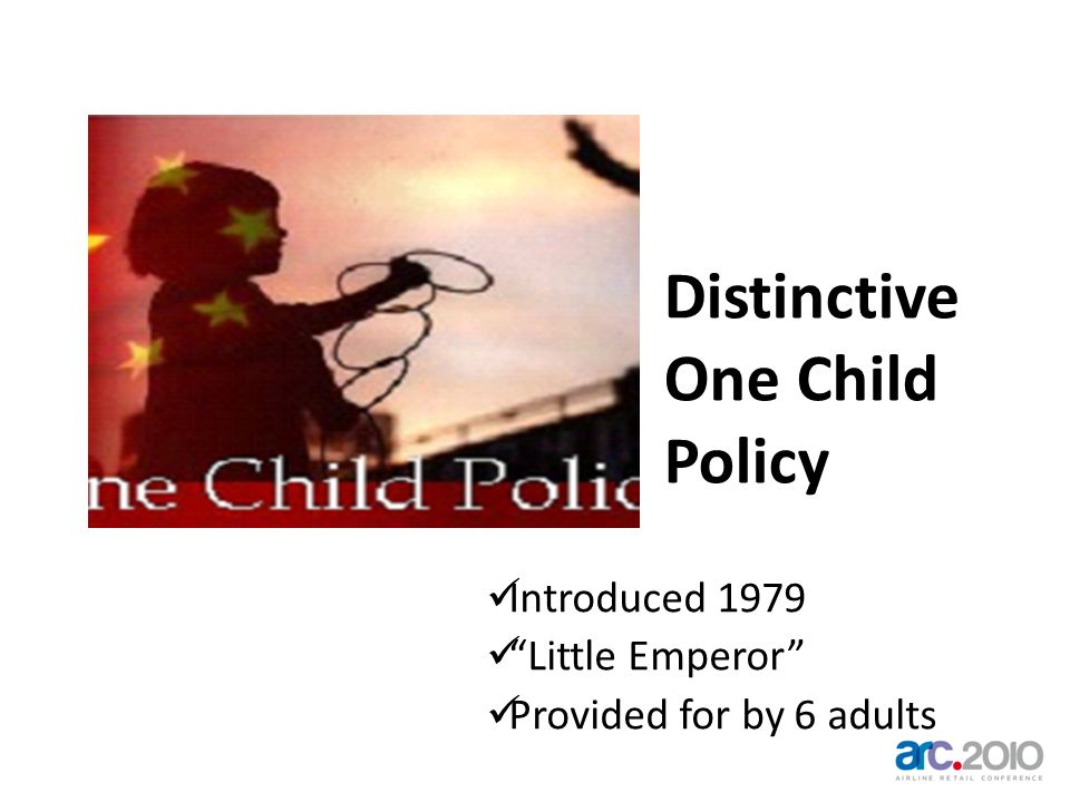 Distinctive One Child Policy