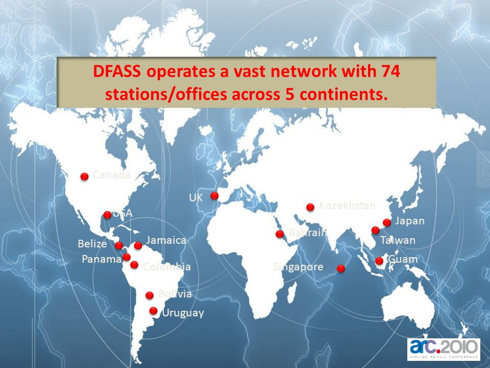DFASS operates a vast network with 74 stations/offices across 5 continents.
