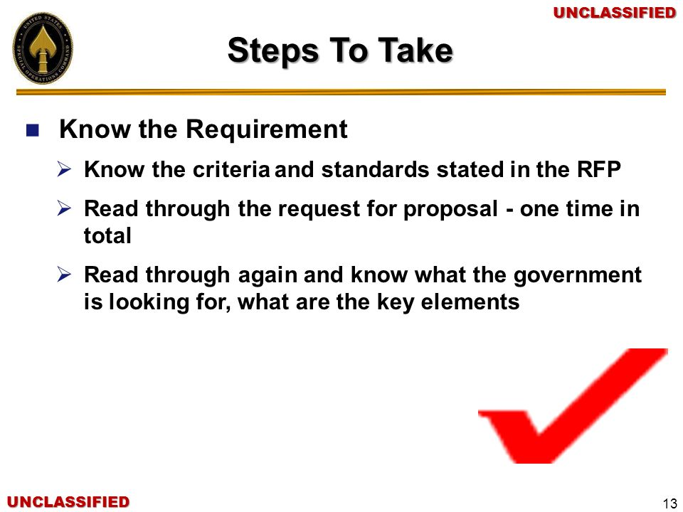Steps To Take Know the Requirement