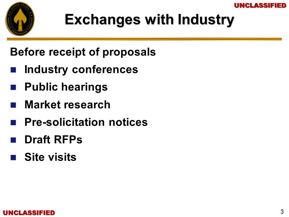 Exchanges with Industry
