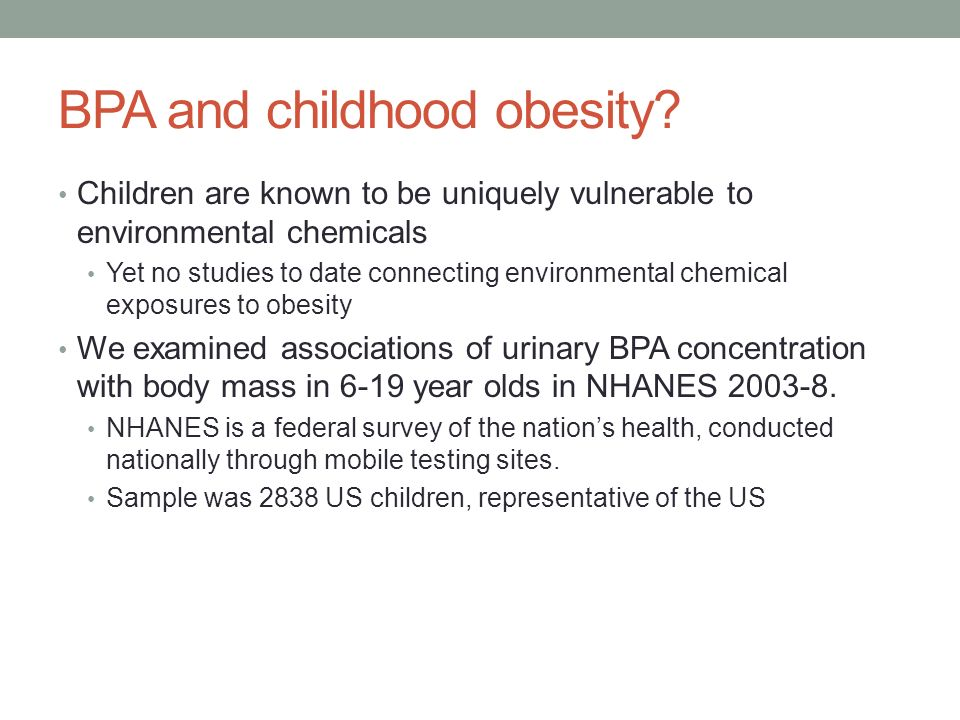 BPA and childhood obesity